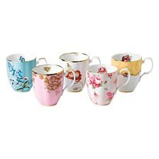 Royal Albert 100 Years 1950-1990 5-Piece Mug Set