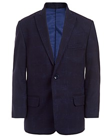 Big Boys Windowpane Suit Jacket