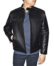 Retro Leather Men's Moto Jacket