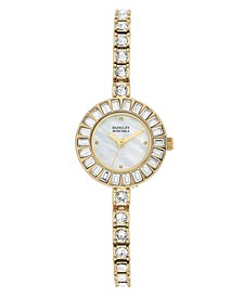 Ladies Gold-Tone Bangle Encrusted with Swarovski Crystals Watch 33mm