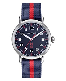 N83 Ladies Wakeland Lady Navy, Red Fabric Strap Watch 40mm