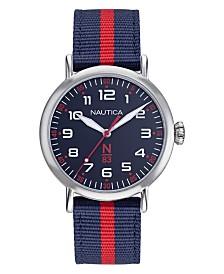 Nautica N83 Ladies Wakeland Lady Navy, Red Fabric Strap Watch 40mm