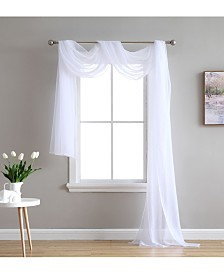 """Lucido By HLC.me Canberra Sheer Voile Swag Scarf 55"""" X 216"""""""