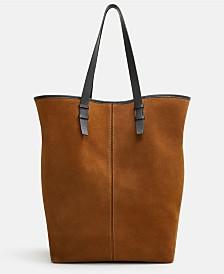 Mango Leather Shopper Bag