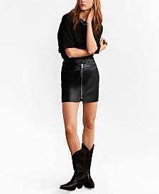 Mango Zip Miniskirt