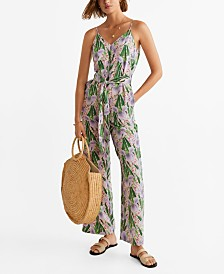 Mango Floral Long Jumpsuit