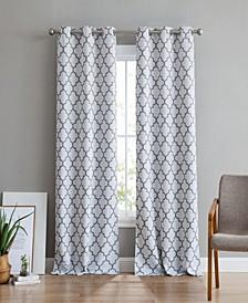 Obscura Bunbury Lattice Print Blackout Grommet Curtain Panels - 37 W x 96 L - Set of 2