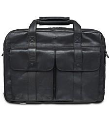 Buffalo Collection Double Compartment Laptop Briefcase