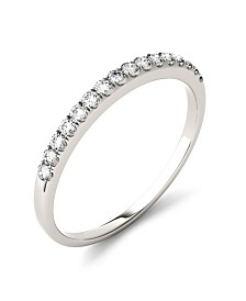 Moissanite Band 1/6 ct. t.w. Diamond Equivalent in 14k White or Yellow Gold