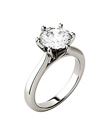 Moissanite Solitaire Engagement Ring 1-9/10 ct. t.w. Diamond Equivalent in 14k White Gold
