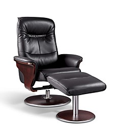 Milano Swivel Recliner and Ottoman
