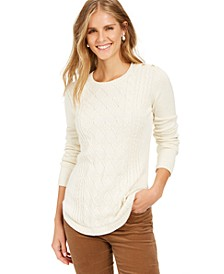 Petite Cable Knit Sweater, Created for Macy's