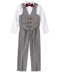 Little Boys 4-Pc. Glen Plaid Tailored Vest Set