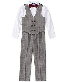Nautica Little Boys 4-Pc. Glen Plaid Tailored Vest Set