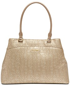 Hudson Signature Embossed Satchel