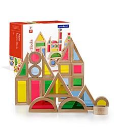 Guidecraft Junior Rainbow Blocks - 40 Pieces Set