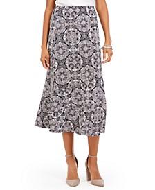Petite Printed Midi Skirt