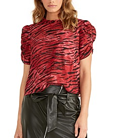 Hanna Ruched-Sleeve Top