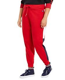 Plus Size Varsity-Panel Sweatpants
