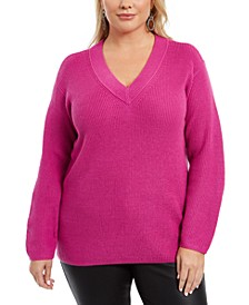 Plus Size V-Neck Sweater