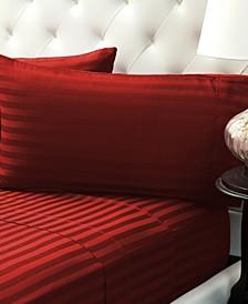 Damask Stripe Sateen Stripe Sheet Set- Full