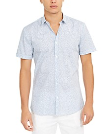 HUGO Men's Printed Poplin Slim-Fit Shirt