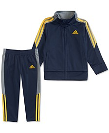 Baby Boys 2-Pc. Colorblocked Tricot Jacket & Pants Set