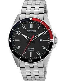 Men's Quartz Stainless Steel Bracelet Watch 42mm