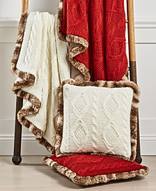 Sweater Knit Throw & Decorative Pillow Collection, Created For Macy's