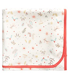 Baby Girls Cotton Reindeer Blanket, Created For Macy's
