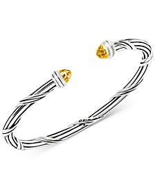 Citrine Cuff Bracelet (2-1/10 ct. t.w.) in Sterling Silver (Also available in Blue Topaz)