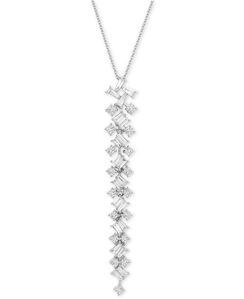 """Wrapped in Love Diamond Scatter 20"""" Pendant Necklace (2-1/2 ct. t.w.) in 14k White Gold, Created For Macy's"""
