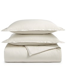 Supima Cotton 550-Thread Count 3-Pc. Full/Queen Duvet Cover Set, Created For Macy's