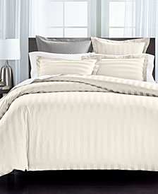 "Charter Club Damask 1.5"" Stripe Supima Cotton 550-Thread Count 3-Pc. Full/Queen Duvet Cover Set, Created for Macy's"