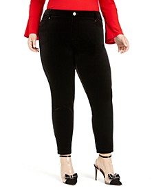 INC Plus Size Velvet Skinny Pants, Created For Macy's