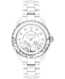 LIMITED EDITION Women's Preston White Ceramic Bracelet Watch 32mm, Created for Macy's