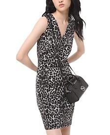 Michael Michael Kors Leopard-Print Scuba Dress, Regular & Petite Sizes