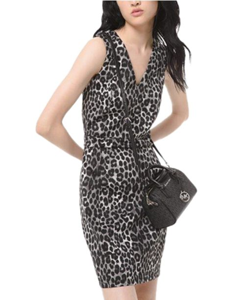 Michael Kors Leopard-Print Scuba Dress, Regular & Petite Sizes