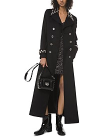 Michael Michael Kors Embellished Long Pea Coat