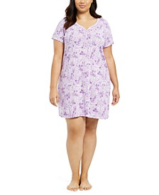 Plus Size Cotton Sleepshirt Nightgown, Created for Macy's