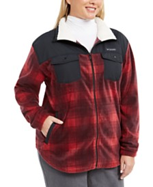 Columbia Plus Size Benton Springs™ Plaid Fleece Jacket