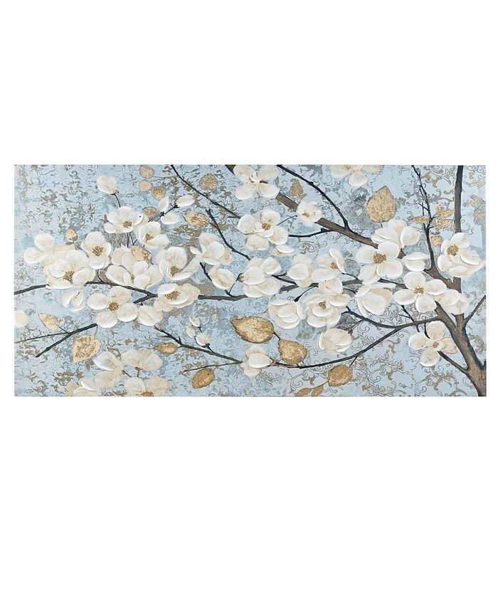 Madison Park - Luminous Bloom Gold Foil Floral Hand Embellished Canvas Art