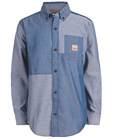 Big Boys Quincy Pieced Colorblocked Shirt