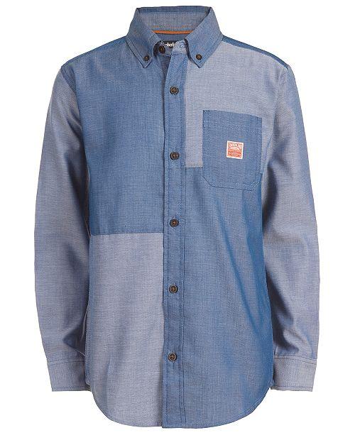 Timberland Big Boys Quincy Pieced Colorblocked Shirt