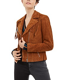INC Suede Moto Jacket, Created for Macy's