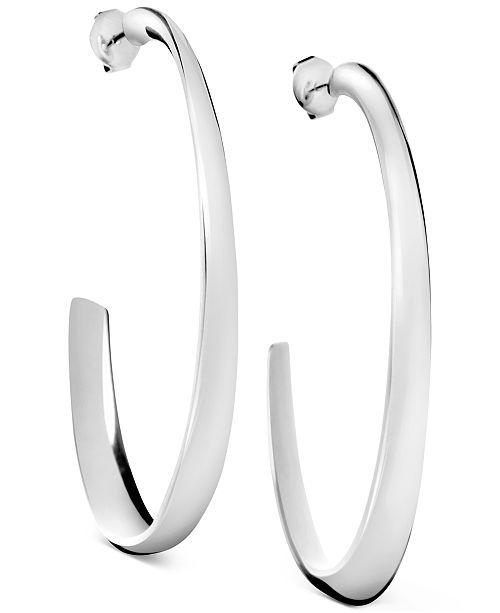 Calvin Klein Groovy Stainless Steel Hoop Earrings