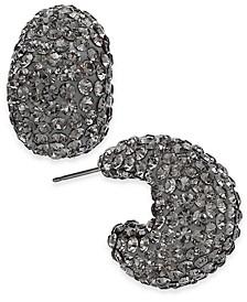 "Small Stone & Resin Pavé Hoop Earrings 1"""