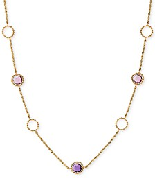 """Amethyst Open Ring 18"""" Statement Necklace (5-5/8 ct. t.w.) in 10k Rose Gold"""