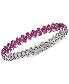Certified Ruby Tennis Bracelet (13 ct. t.w.) in Sterling Silver