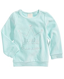 Baby Girls Crown-Print Velour Top, Created For Macy's
